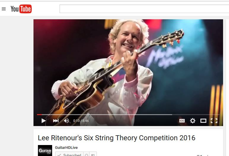 Lee video on SST 2016